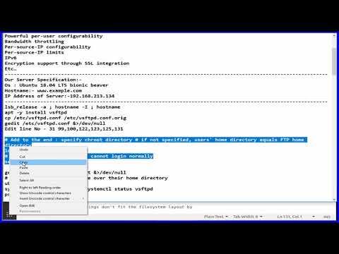 How To install Setup FTP Server Vsftpd on Ubuntu 18.04 LTS Bionic Beaver