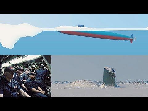 View From Control Room: Submarine Crashes Through Arctic Sea Ice