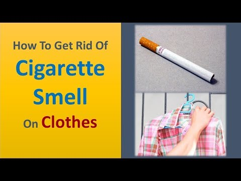 how to get rid of cigarette smell on clothes
