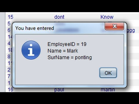 Java prog#125. JOptionPane: Other ways of Using JOptionPane for showing variable values
