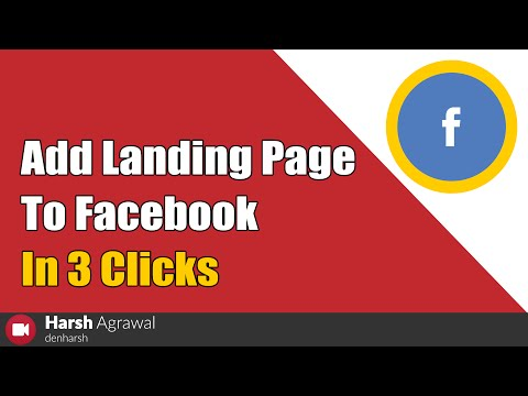 How To Add Landing Page To Facebook In 3 Clicks