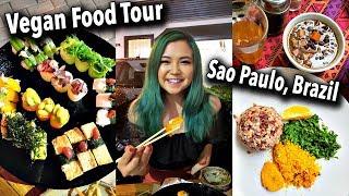 WHAT I ATE AS A VEGAN in Sao Paulo (VEGAN FOOD TOUR IN BRAZIL part.1)