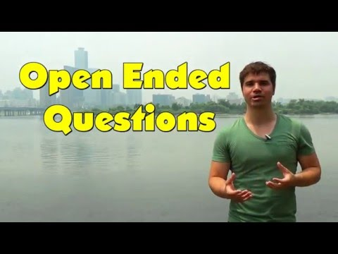 Efficient English 14: Better Conversation with Open Ended Questions