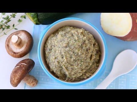 Mushroom zucchini sweet potato baby food recipe +6M