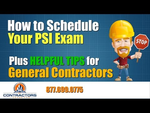 How to Schedule Your PSI Contractor Exam