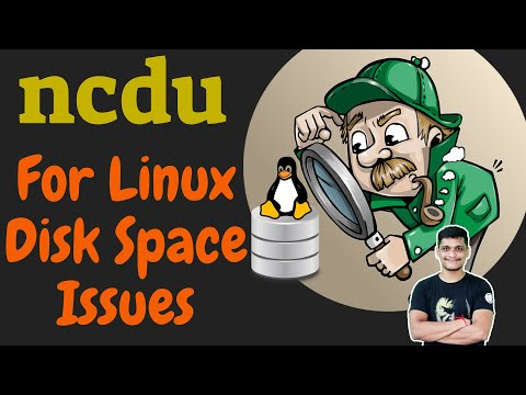How to use ncdu command to solve linux disk space issues | Linux utilities | Treesize alternatives