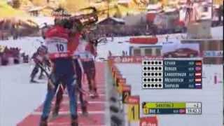 15.12.2013 Biathlon Le Grand-BornandPursuit/Verfolgung Herren Winner Johannes Thingnes Bø (full)