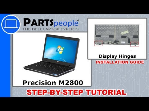 Dell Precision M2800 (P29F001) Display Hinges How-To Video Tutorials