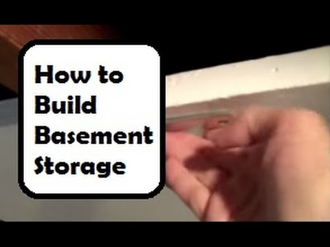 Extra Basement Storage: How to Create More Basement Storage by Turning Floor Joists Into Shelves