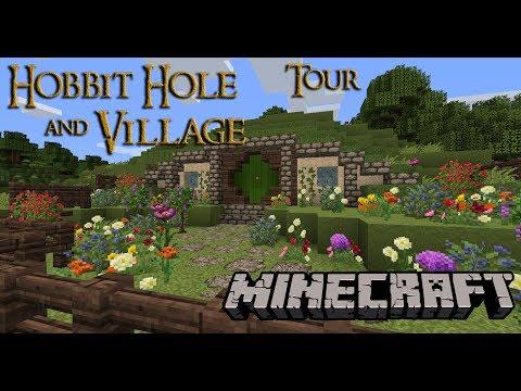 Hobbit hole and Hobbit village Tour in MineCraft