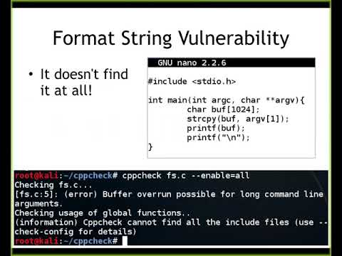CNIT 127 - Ch 18: Source Code Auditing