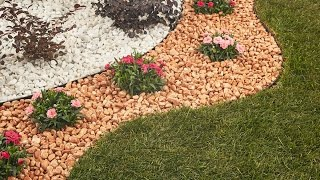 Easy to Install Rock EcoBoundary® around House using Weed Recede TM