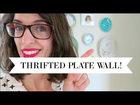 DIY Plate Wall | Thrifted Home Decor