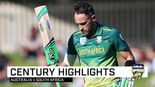 Du Plessis thwarts Aussies with 10th ODI ton
