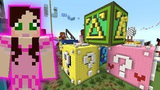 Minecraft: LUCKY BLOCK ROLLER COASTER! - HEAD HUNTER THEME PARK [1]