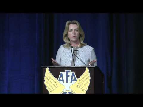 SECAF Deborah Lee James at the 2015 Air Force Association Air Warfare Symposium