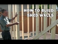 How to Build a Shed - How to Frame Walls For a Shed - Video 5 of 15