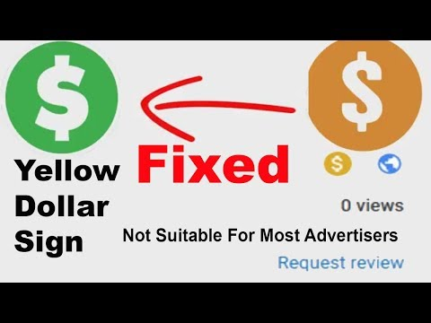 How to fix Yellow Dollar YouTube video problem | Not suitable for Most advertisers-request a review