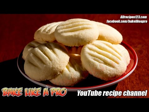 Easy Amazing Butter Cookies Recipe   Shortbread cookies recipe