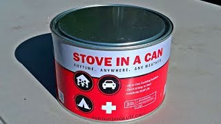 Testing Stove In A Can