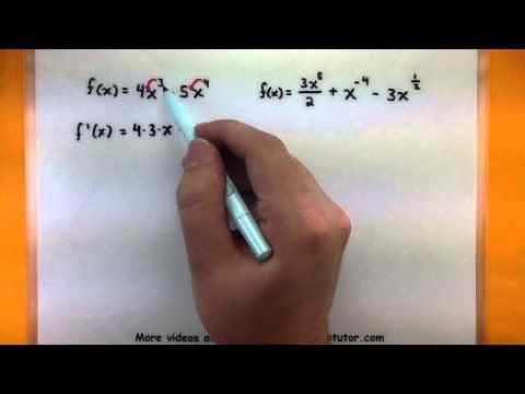 Calculus - How to find the derivative of a function using the power rule