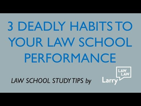 The 3 Deadly Sins In Law School (Bad Ways Of Coping WIth Stress)