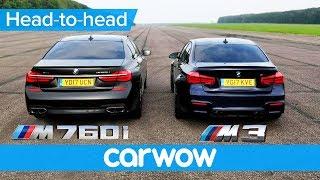 BMW M760Li vs M3 Competition – DRAG RACE & ROLLING RACE | Head to Head