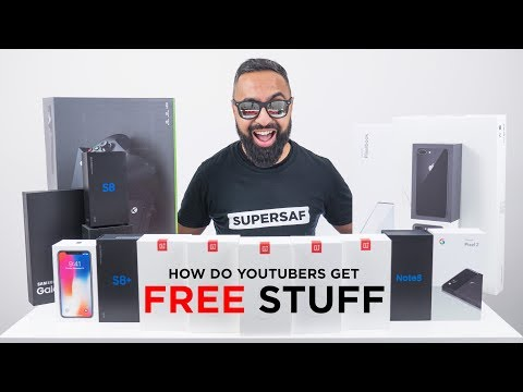 How do YouTubers get FREE STUFF?