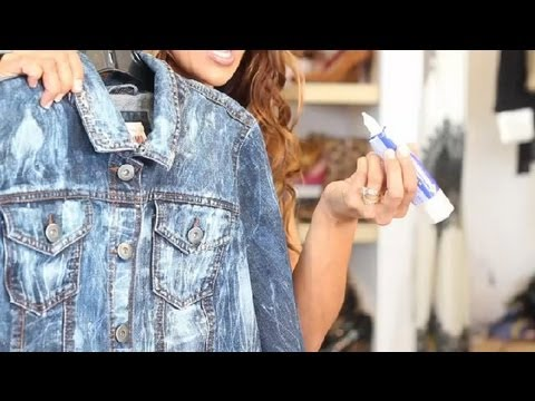 How to Make a Jean Jacket Look Worn : Trendy Fashion Tips