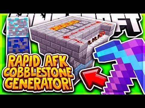 FAST AUTO COBBLESTONE GENERATOR! | Minecraft Skyblock | Pvpwars Diamond | [4]