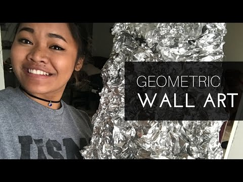DIY | Geometric Mirrior Wall Art