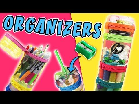 ORGANIZER AND PENCIL CASE WITH PLASTIC BOTTLES  aPasos Crafts DIY