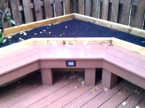 Ace Deck & Fence LLC Azek Ground Level Deck Benches & Planter Boxes.3gp