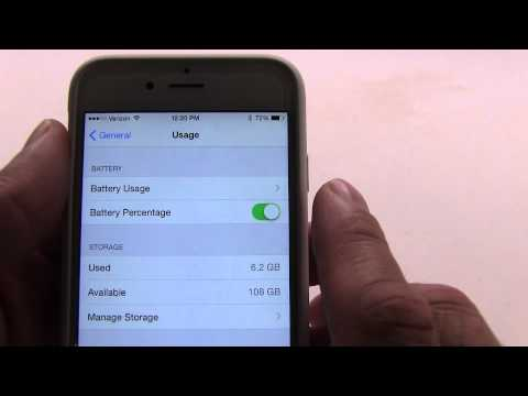 iPhone 6 How to Show Battery Percentage