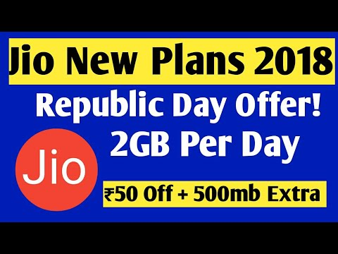 Jio New Plans and Republic Day Offer 2018