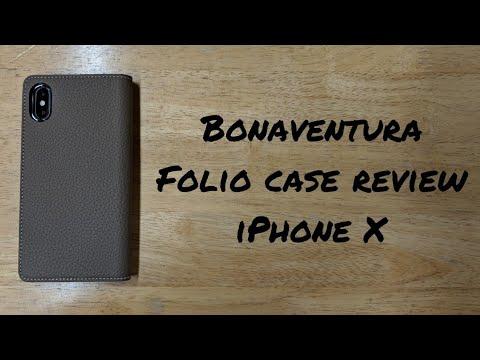 Bonaventura folio case review for the iPhone X