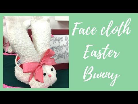 Face Cloth Easter Bunny
