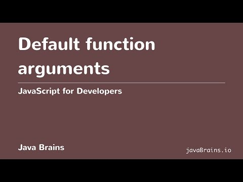 JavaScript for Developers 41 - Default function arguments