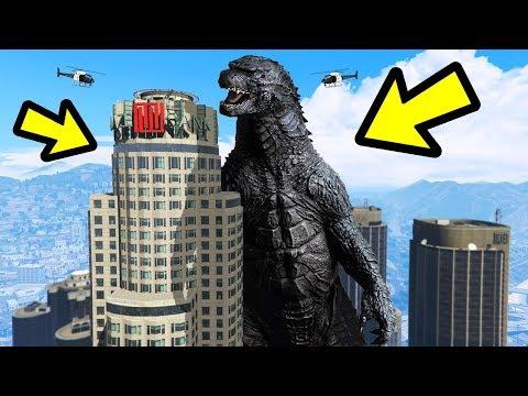 GTA 5 - GODZILLA vs. Los Santos! (Amazing)
