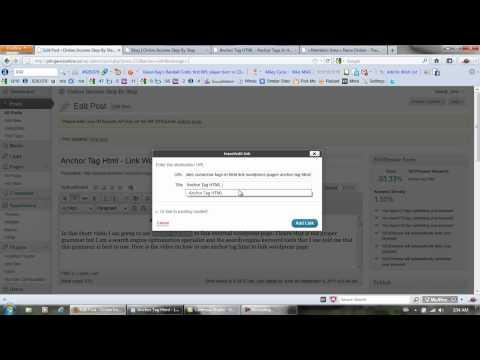 Anchor Tag Html - Link Wordpress Page