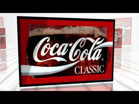 Coca-Cola Classic Soft Drink Bar Stretched Canvas Print Sign