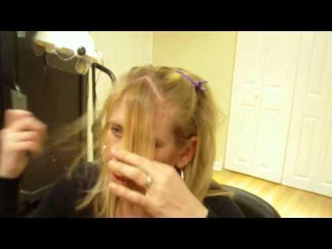 How To Cut  Side Swept Hair Bangs (Fringe) Using a Razor