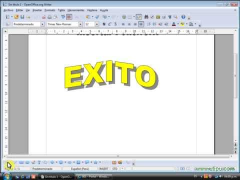 Insertar FontWork