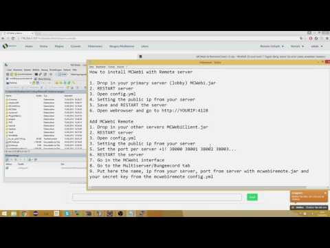 [Tutorial] MCWebi setup with remote