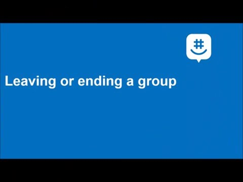 Leave a group (iOS)