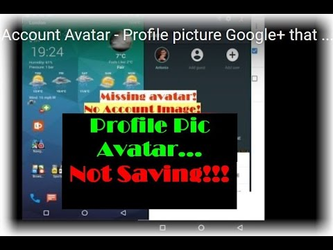 Account Avatar - Profile picture Google+ that won't update - this is the fix!
