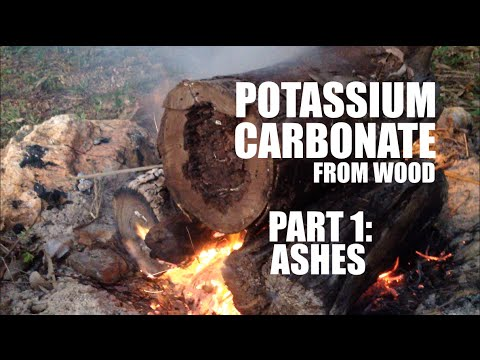 Making Potassium Carbonate from Wood - Part 1: Ashes