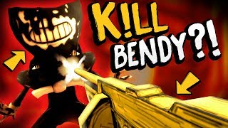 WAIT.. CAN WE USE THIS TO DESTROY BENDY?! | Bendy and the Ink Machine Chapter 3 Secrets (Gameplay)