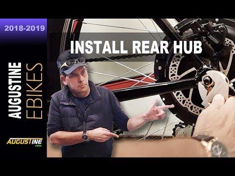 How to install an e-Bike 1200w, rear hub motor