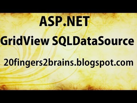 Asp.Net C# Bind Gridview to SQLDatasource With Example